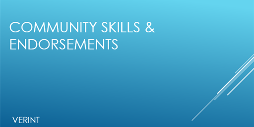 Skills & Endorsements
