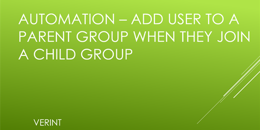 Add User to a Parent Group When They Join a Child Group