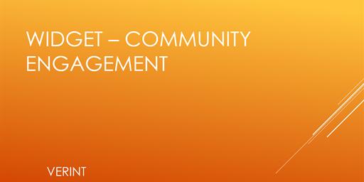 Community Engagement Widget