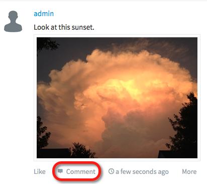 click comment
