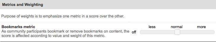 bookmark metric