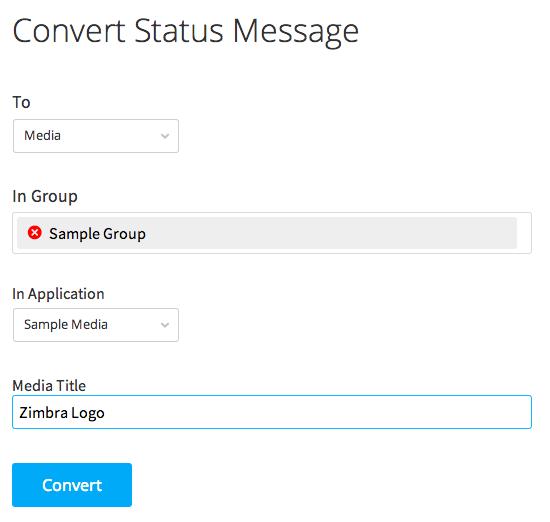 convert status message to media gallery post